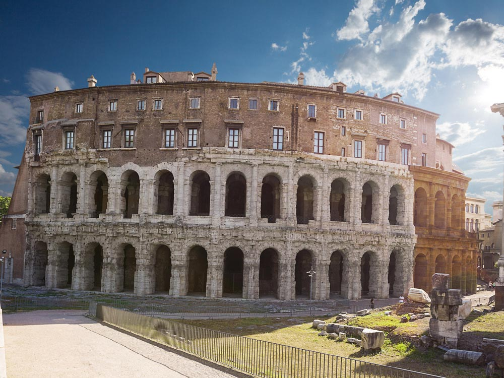 Theatre of Marcellus in Italy