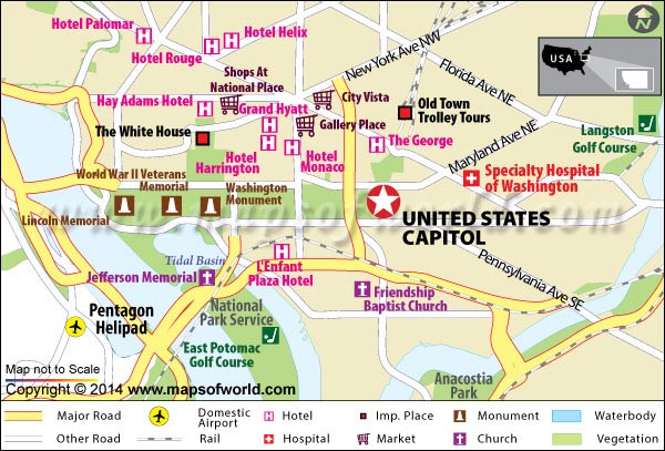 US Capitol Building Map