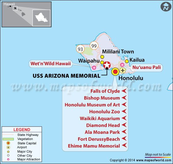 Location Map of USS Arizona Memorial