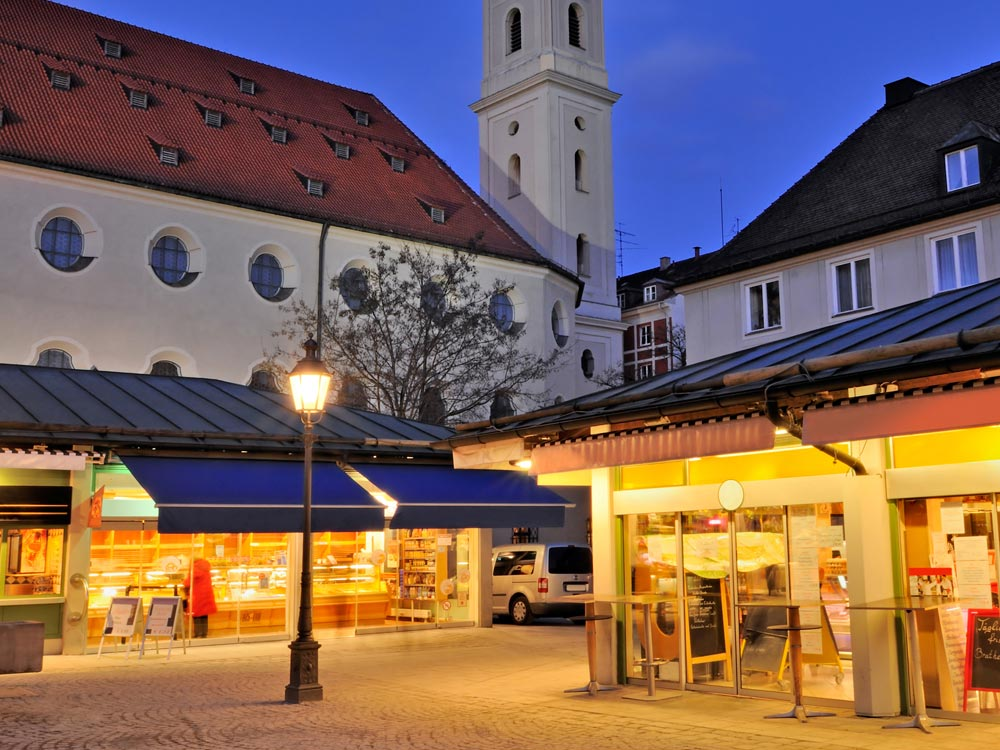 Viktualienmarkt in Munich, Germany