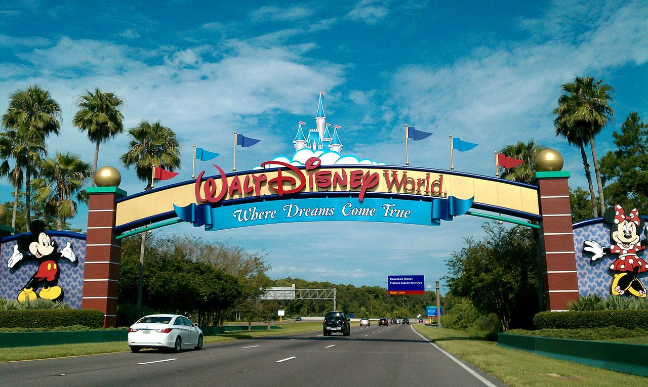 Entrace to the Walt Disney World in Florida