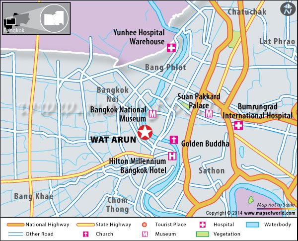 Location Map of Wat Arun