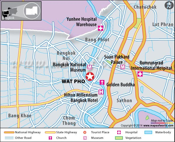 Location Map of Wat Pho