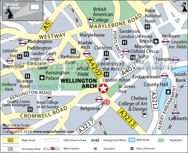 Wellington Arch Map