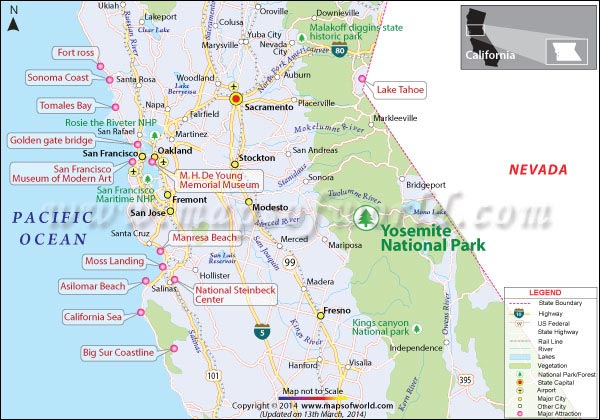 Where is Yosemite National Park Located