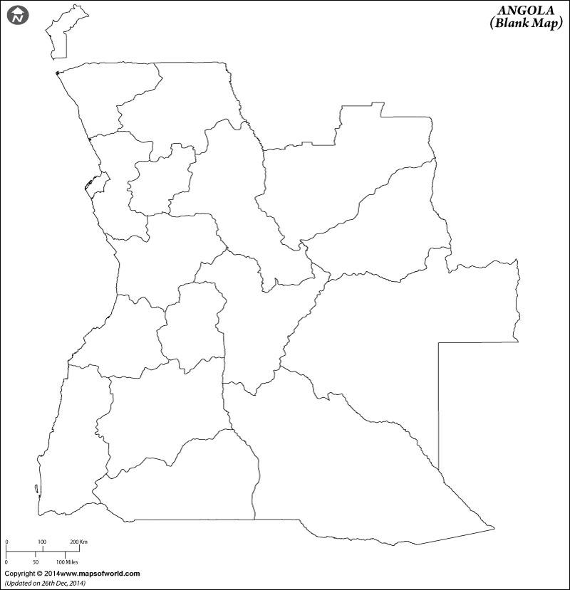 Angola Blank Map