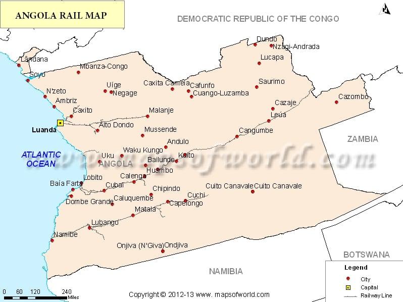 Angola Rail Map