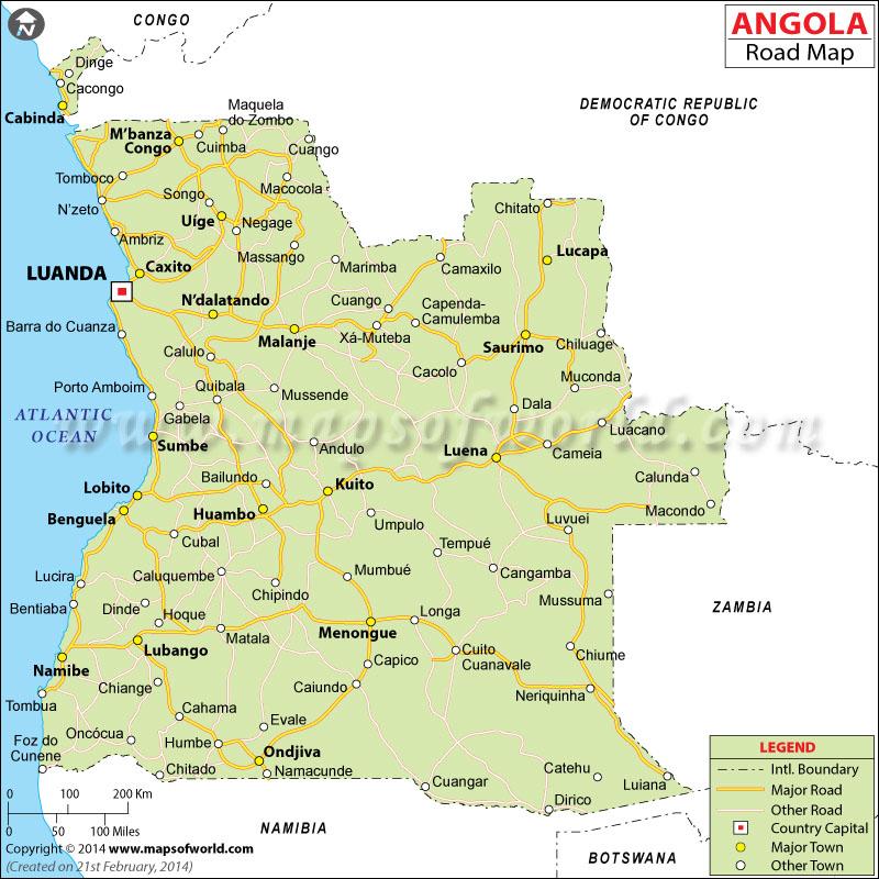 Road Map - Angola road map