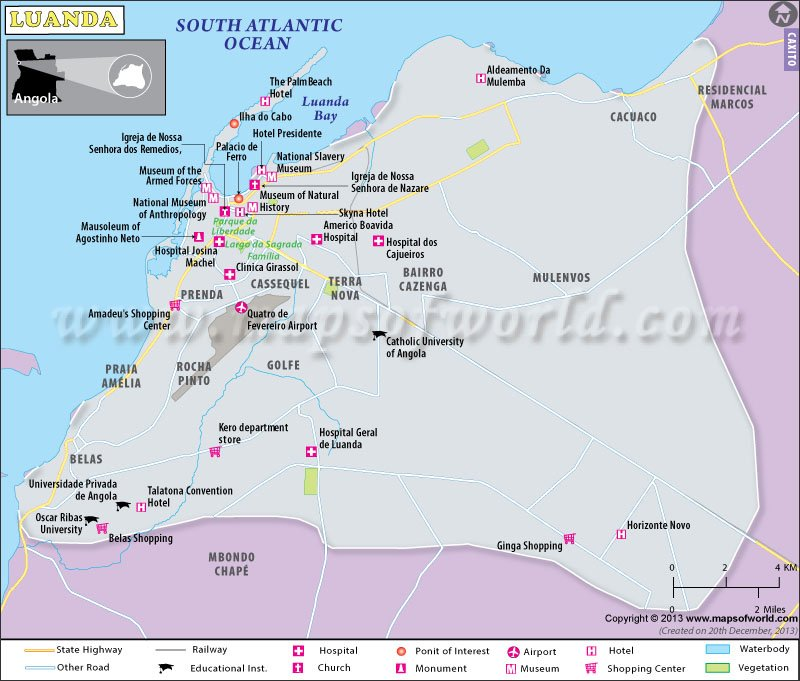 Luanda Map | Maps Luanda Map