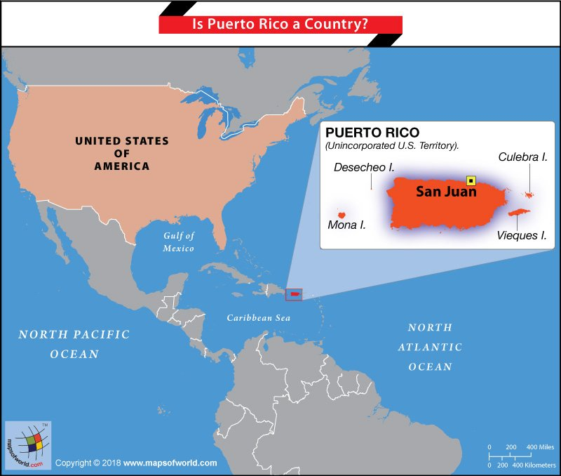 Puerto Rico Us Map Is Puerto Rico a Country?   Answers