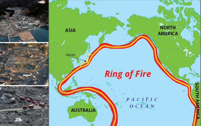 Countries Along The Ring Of Fire