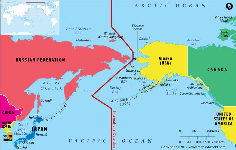 Map Of Russia And Alaska Are The US And Russia Neighbors?   Answers