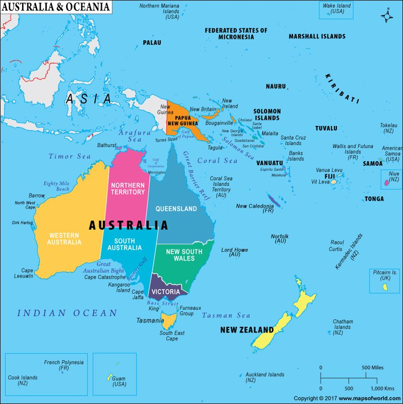 What Countries Comprise Oceania? Is Oceania A Continent?