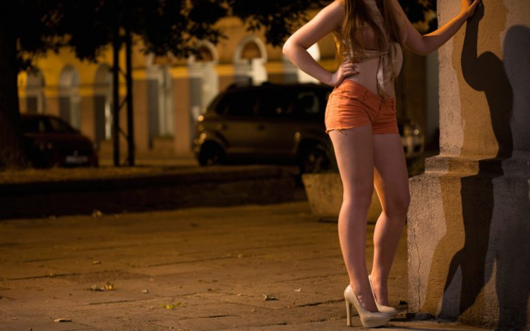 Woman Arrested Prostitution Taken Processing Mobile Command Editorial Stock Photo