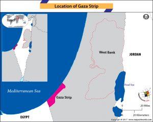 Location map of Gaza Strip