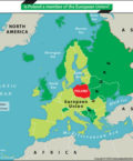 Map of Europe Highlighting the Location of Poland