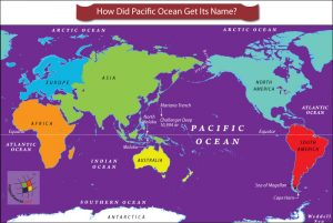 World map highlighting Pacific Ocean