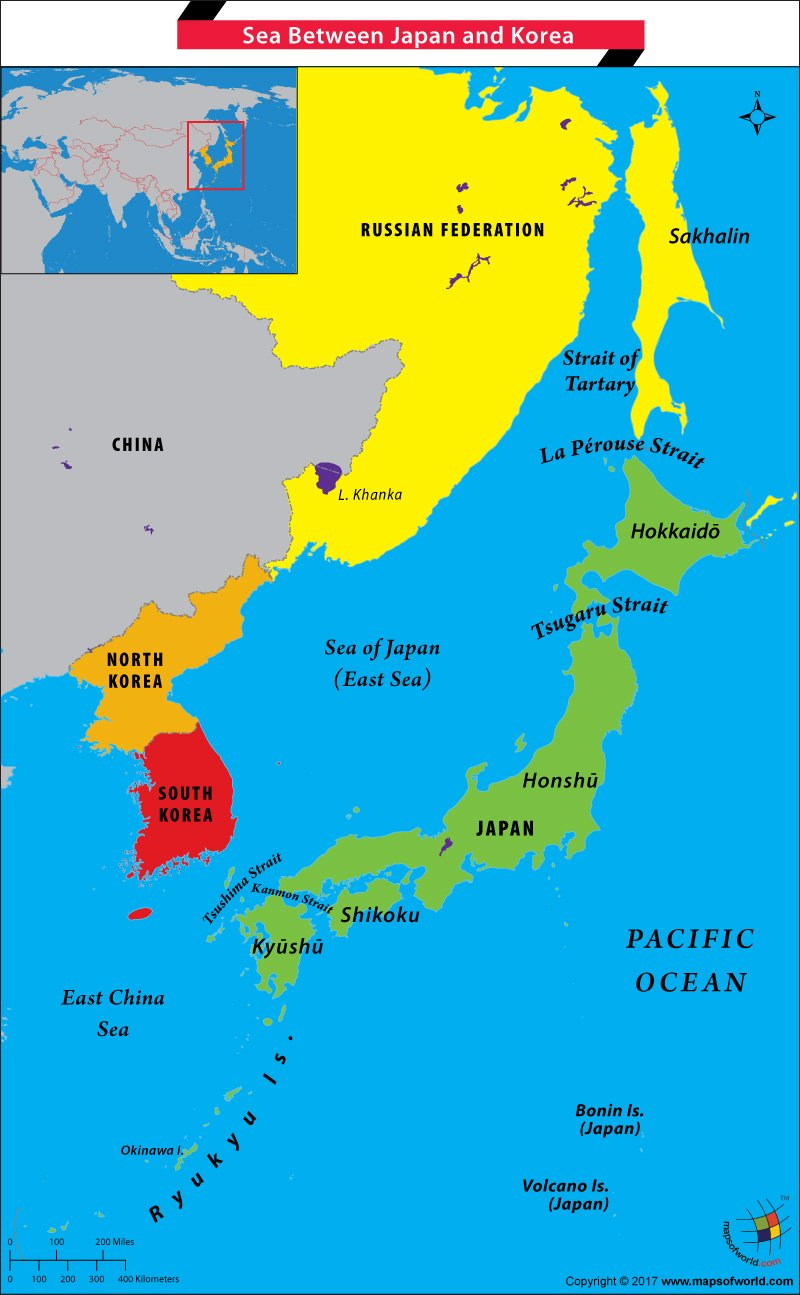 What Is The Name Of The Sea Between Japan And Korea Answers - Japan map korea