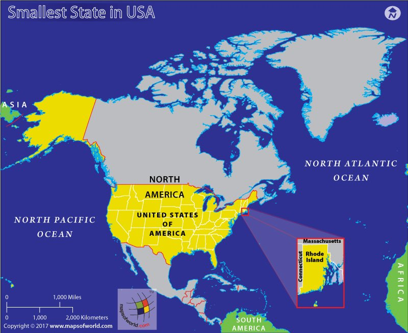 Which is the Smallest State in the United States? - Answers