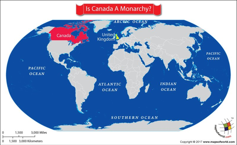 World map showing Canada and UK