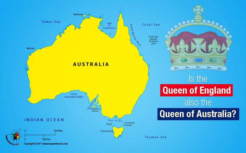 Map Showing Australia
