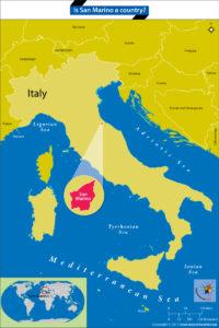 Map locating San Marino within Italy