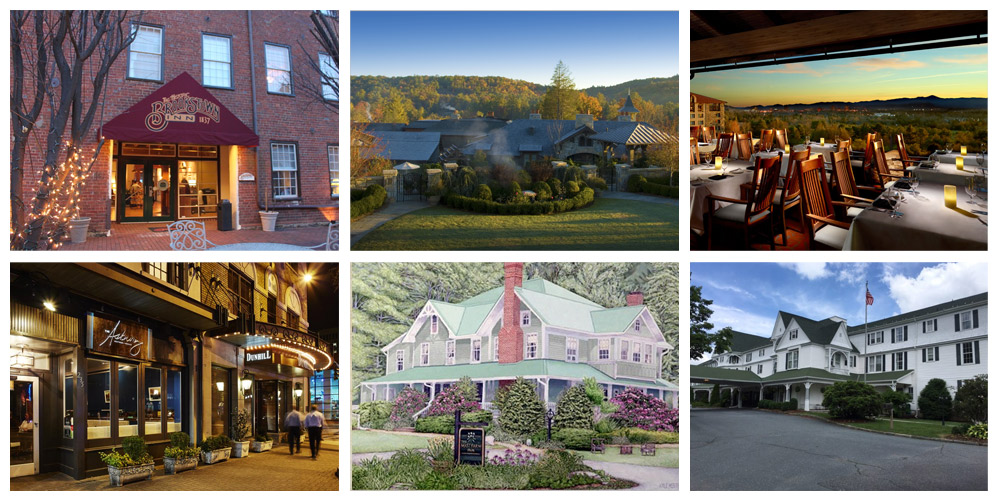 Image collage of places to visit in NC