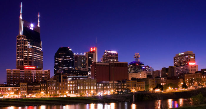 Beautiful skyline of Nashville, Tennessee