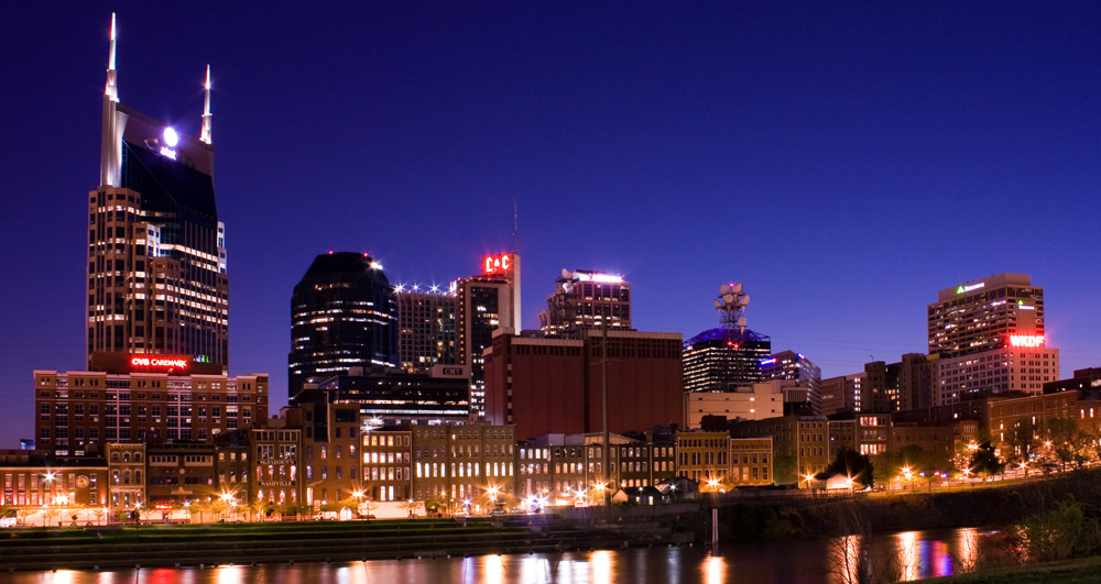 Beautiful skyline of Nashville, Tennessee
