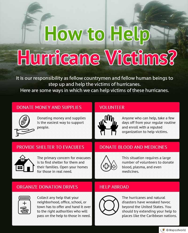 Infographic on ways to help hurricane victims