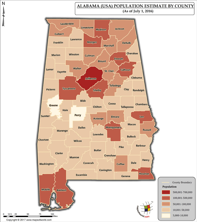 Alabama Population Map