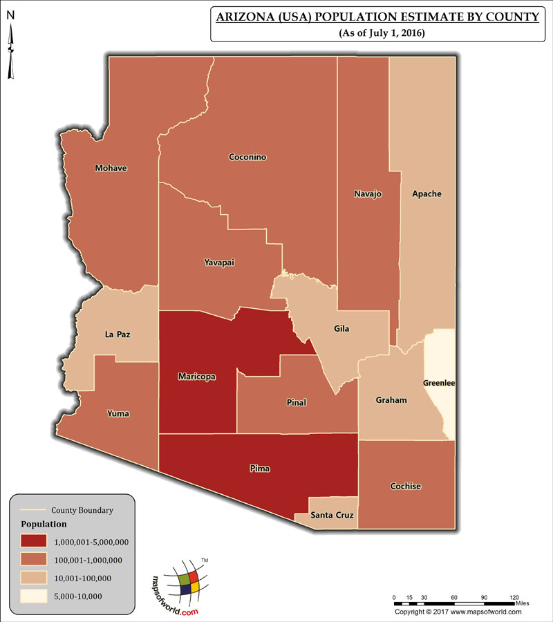 Arizona Population Map