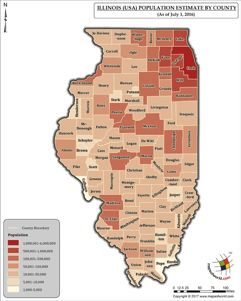 Illinois Population Map