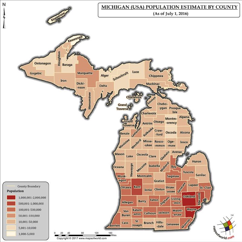 Michigan Population Map
