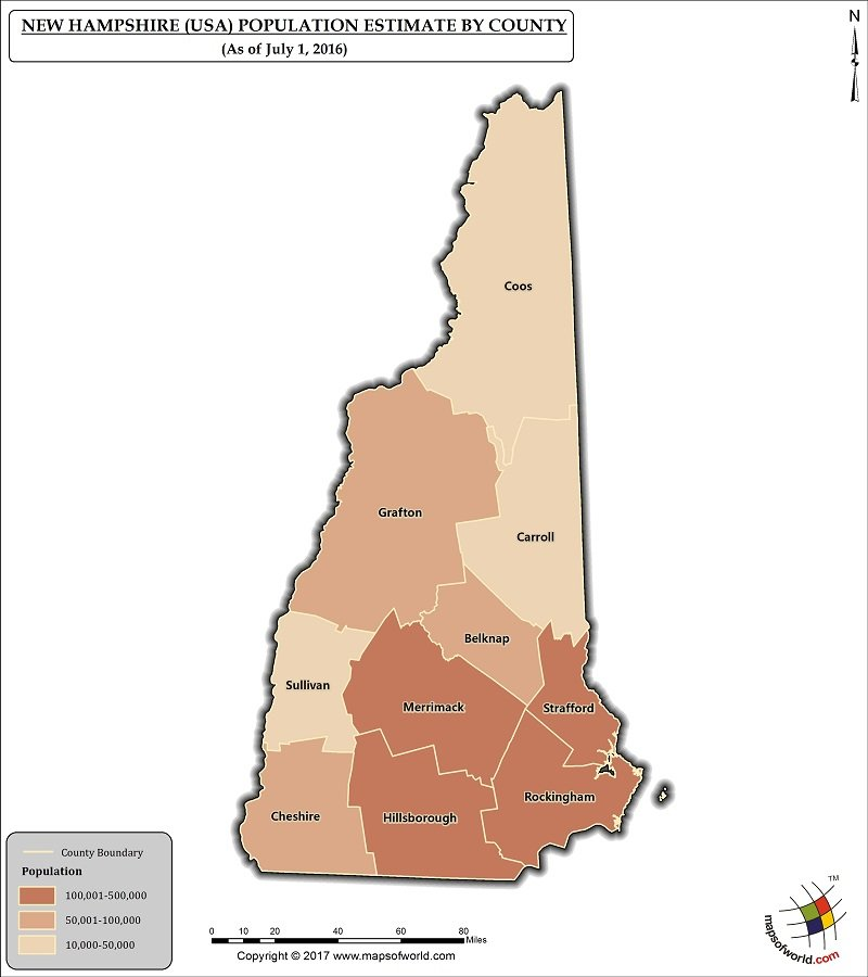 county map of new hampshire What Is The Population Of New Hampshire Answers county map of new hampshire