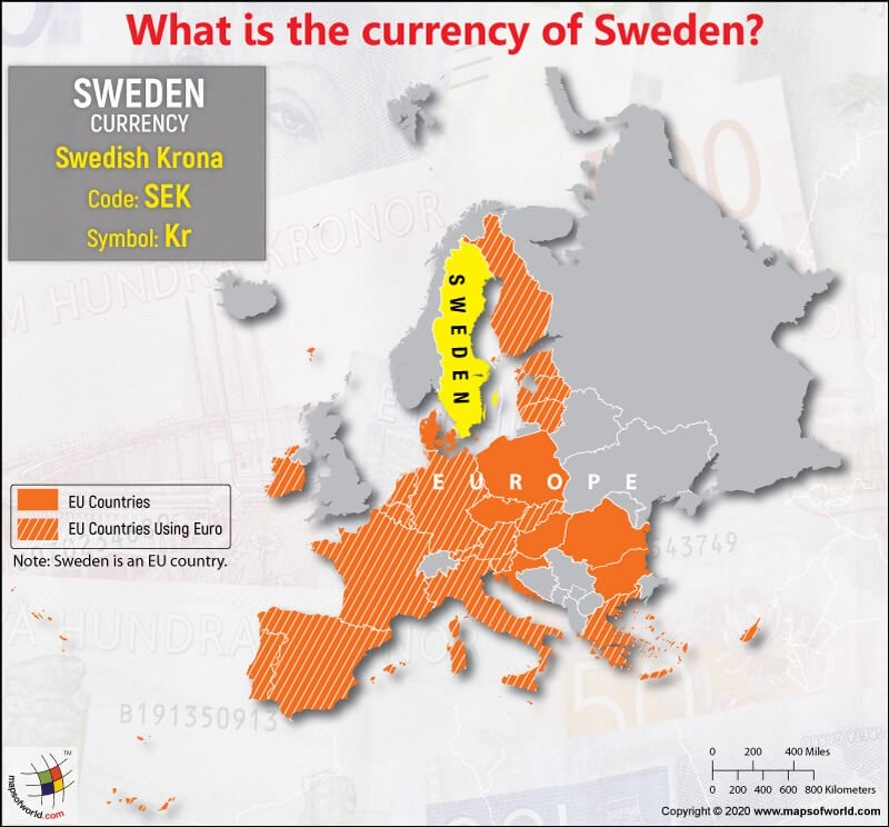 EU Map Highlighting the Location of Sweden