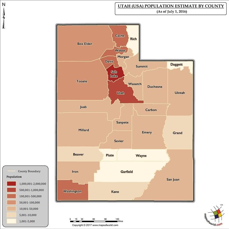 Utah Population Map