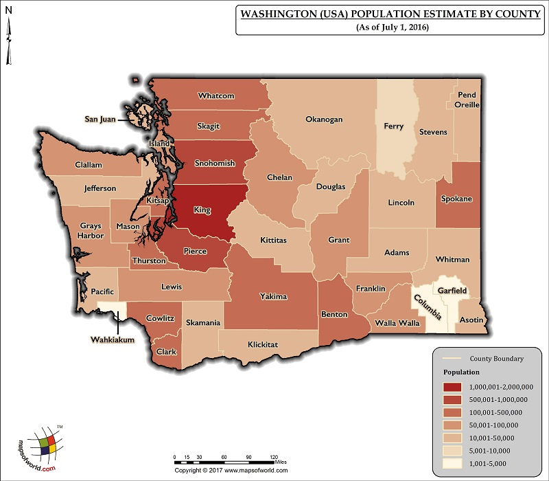 Washington Population Map