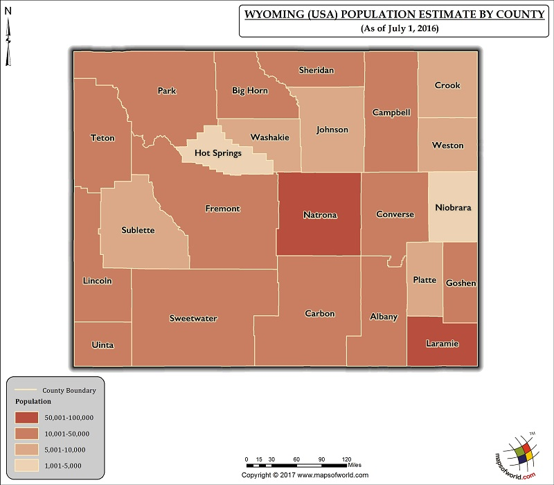 Wyoming Population Map