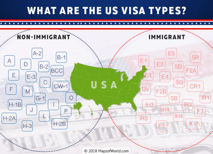 Infographic – What are the US Visa Types