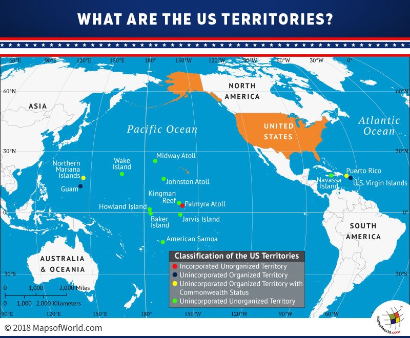 Map of USA Overseas Territories