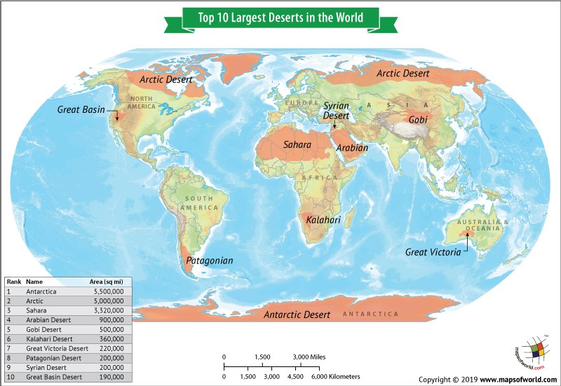 sahara desert on a world map What Are The Top 10 Largest Deserts In The World Answers