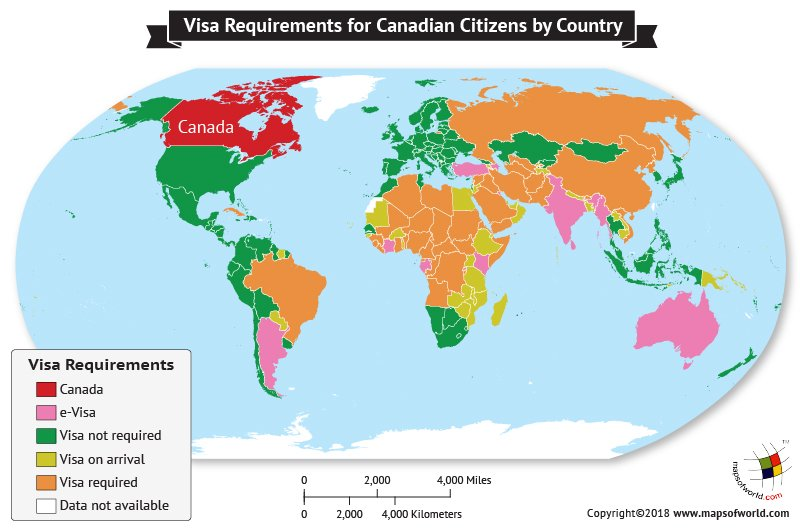 Visa Requirements for Canadians