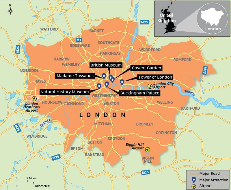 London Map Attractions.Map Depicting London Tourist Attractions Answers