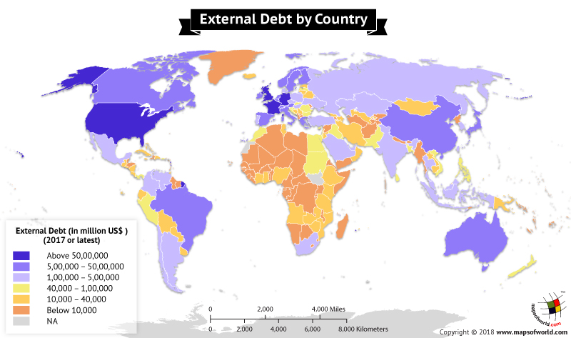 What are the countries with the highest external debt answers world map highlighting external debt stock by country gumiabroncs Gallery
