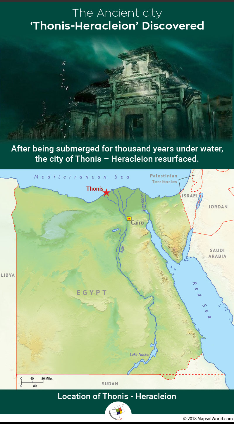 Egyptian city Thonis-Heracleion was re-discovered