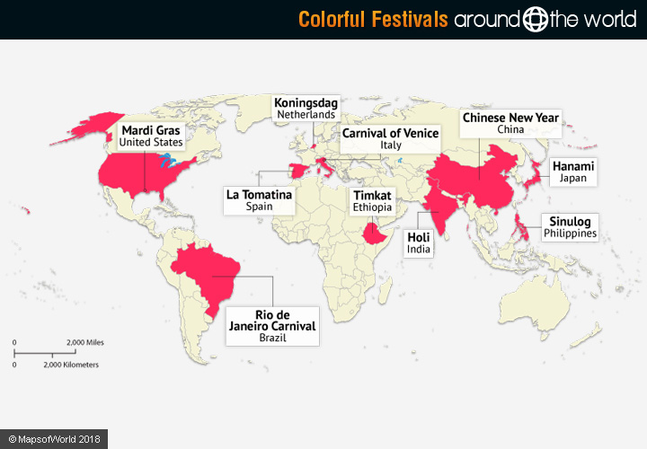 Colorful Festivals in the World