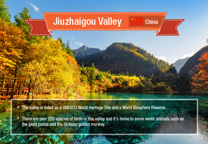 "Jiuzhaigou roughly translates into Chinese for ""Nine Village Valley"""