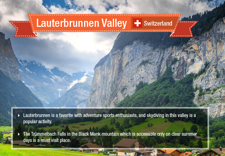 Lauterbrunnen is popularly considered one of the most beautiful valleys