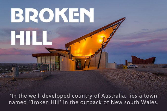 Broken Hill is Located in NSW, Australia